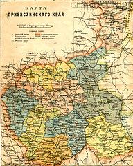 Królestwo Polskie; mapa z 1892 roku