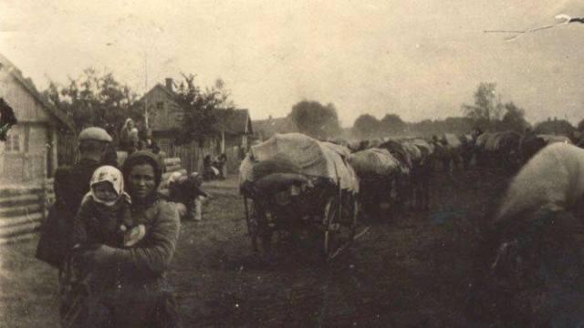 bieżeńcy z naszych wiosek
